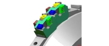 Milling cutter cartridge design for cams