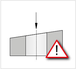 Drilling into an angle
