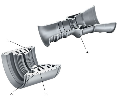 Gas and steam turbine housing